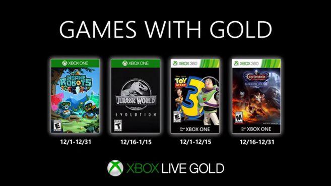 Revelados los Games with Gold de diciembre